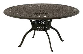 60 round outdoor table grand by luxury cast aluminum round dining table w inlaid lazy 60 60 round outdoor