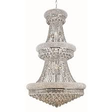 elegant lighting primo 32 light chrome glam crystal empire chandelier