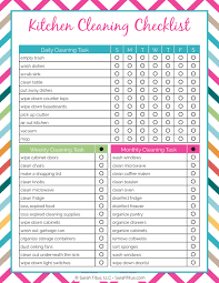 cleaning checklist cleaning binder kitchen cleaning checklist sarah titus
