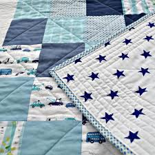 Baby Quilt Patterns: Easy and Adorable & Star, stripes and cars baby boy quilt Adamdwight.com