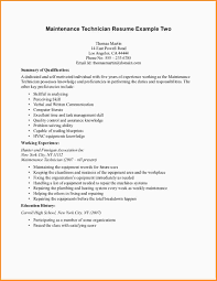 Mechanic Resume Template 100 Maintenance Technician Resume Mac Resume Template 78