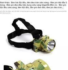 Đèn pin thợ mỏ đeo đầu siêu sáng - Đèn pin đeo trán giá rẻ đèn pin đeo trán hà  nội - Đèn Pin Led Siêu Sáng Đội Đầu 3 Bóng- Đèn