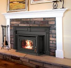 i like this pellet stove with a mantel wood stovesfireplace