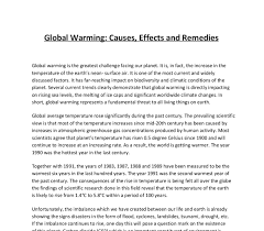 global warming causes effects and remedies gcse geography  document image preview