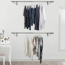 wall mounted clothes hanging rail
