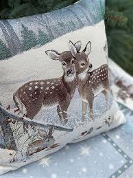 Наволочка декоративная Лесные друзья два олени <b>Le Gobelin</b> ...