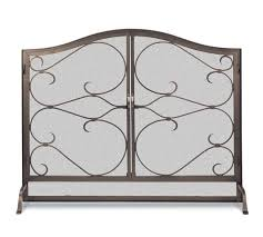 iron gate fireplace arched door screen