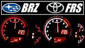 ☆ Subaru BRZ (200hp) 🆚 Scion FRS (200hp) Acceleration 0-235 km/h ...