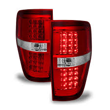 2010 F150 Rear Lights Not Working Acanii For 2009 2010 2011 2012 2013 2014 Ford F150 Red Clear Led Tail Lights Brake Lamps