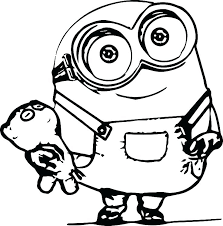 Minions To Color Coloring Pages Of Minions Free Coloring Pages