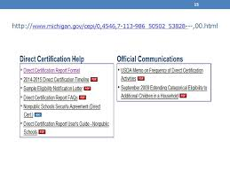 Fundamentals Of Direct Certification And Verification Reporting