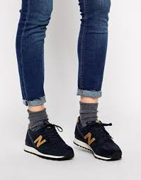 New Balance <b>996 Suede</b>/Mesh Blue and Gold Trainers | ASOS