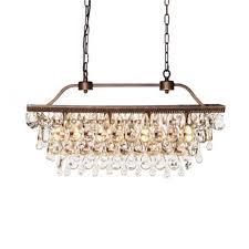 crystal droplets chandelier image to enlarge
