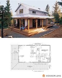 Mini Farm House Design Modern Farmhouse Cabin Floor Plan And Elevation 1015sft