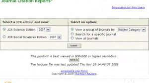 Journal Citation Reports Jcr And Impact Factors On Vimeo