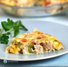 Crustless Tuna Quiche | Recipe
