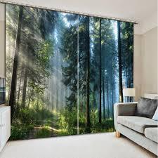 Benutzerdefinierte 3d Stereoskopischen Vorhänge Sonnenschein Wald 3d