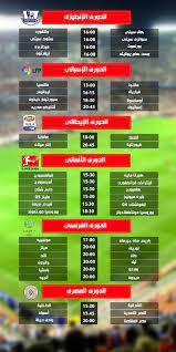 مواعيد مباريات اليوم السبت 22 أبريل