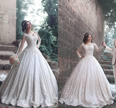 Designer Bridal Gowns With Sleeves Discount Luxury 2017 New Designer A Line Lace Wedding Dresses Long Sleeves Scoop Wedding Gowns For Women Wedding Clothes Wedding Dress Sale From