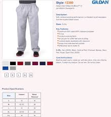 Gildan Size Chart Pants Ahs Boys Soccer Sweatpants With Logo 2 Colors Available