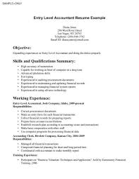 Example Accounting Resumes Entry level accounting resume for accountant resumes examples staff 78