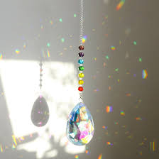 Crystal Light Catcher Chakra Suncatcher 76mm Crystals Bauhinia Prism Window