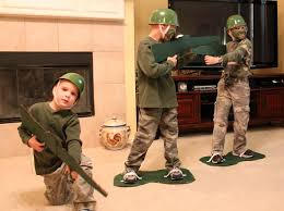 our friends gave us some of their green facepaint and they gave us the awesome army guy