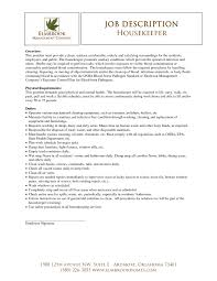Laundry Job Description Resume Best Of Housekeeper Resume