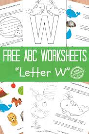 Print these onto colored card stock paper to make them colorful. Letter W Worksheets Free Kids Printable