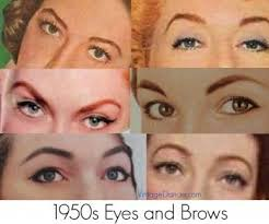 authentic natural 1950s makeup history and tutorial 1950s makeup tutorial eyebrow and 1950s