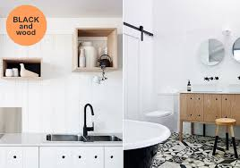 black and white bathroom furniture. Black_faucet_and_wood_accents_kitchen_bathroom_via_DesignLovers_Blog Black And White Bathroom Furniture T