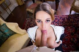 Naughty maid Erica Fontes in black stockings gets fucked porn.