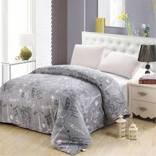 2019 luxury print gray white fl bedding eiffel tower pattern twin queen king size duvet cover 100 cotton soft comfortable from fair2016