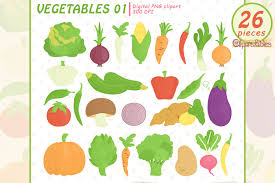 Download 25,358 vegetables free vectors. Cute Vegetables Veggie Clipart Graphic By Clipartfables Creative Fabrica