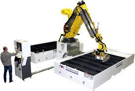 robotic fanuc sawjet for stone countertops 400l