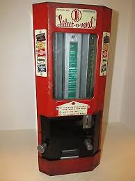 Select O Vend Candy Machine Delectable VINTAGE COIN OP Candy Machine 48 Cent SelectOVend Ca 48945