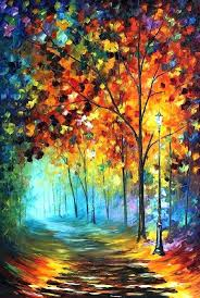 nature painting ideas fog alley palette knife oil painting on canvas by art easy canvas painting nature painting
