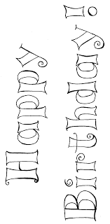 Birthday Coloring Page With Happy Birthday Words To Print!