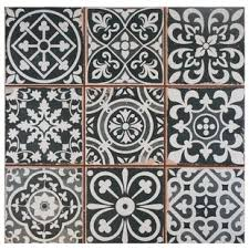 Black And White Patterned Floor Tiles Magnificent Modern Contemporary Black And White Tile AllModern