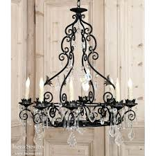 vintage iron chandelier vintage french wrought iron and crystal chandelier vintage cast iron lighting
