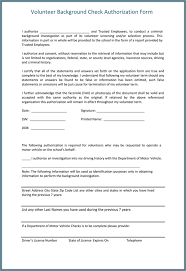 Background Check Authorization Form - 5 Printable Samples