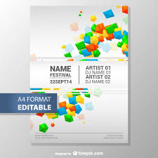 Downloadable Poster Templates Colorful Geometric Editable Poster Template Vector Free Download