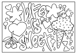 Small Picture Quote coloring pages life is sweet ColoringStar