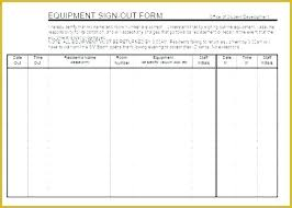 Equipment Checkout Form Template Excel Resident Sign Out Sheet Template