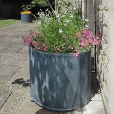 Uncategorized, Large Garden Planters Inexpensive Large Planter Ideas Tube  Shape Giant Pot White And Pink
