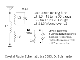 dave s homemade radios crystal set 37 a detector radio a underneath 37 crystal radio crystal radio schematic