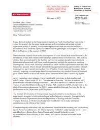 Tenure Recommendation Letter From Student Example Sample Cover Letter In Word North Carolina State University