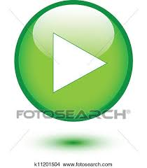 Clipart Of Play On Green Glossy Button K11201504 Search Clip Art