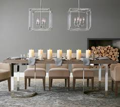 Pottery Barn Living Room Furniture Durham Reclaimed Wood Fixed Dining Table Pottery Barn Au
