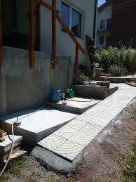 a concrete slab for our sink